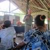 Wil preaching in Haruape