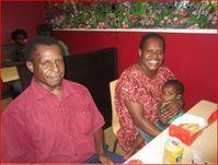 Pastor Jerry, Avoro, Lakobob & John & Selina Allen - lunch in Port Moresby just last week